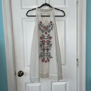 FRANCESCAS White embroidered flowy dress